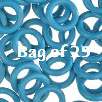 10mm Rubber O-Rings BAG of 25 - Teal