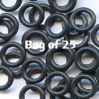 10mm Rubber O-Rings BAG of 25 - Black