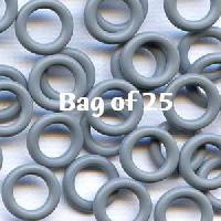 10mm Rubber O-Rings BAG of 25 - Charcoal