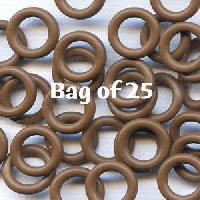 10mm Rubber O-Rings BAG of 25 - Chocolate