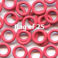 10mm Rubber O-Rings BAG of 25 - Cherry Pop