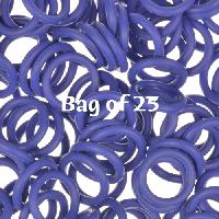 12mm Rubber O-Rings BAG of 25 - Blueberry