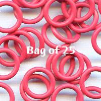 12mm Rubber O-Rings BAG of 25 - Cherry Pop