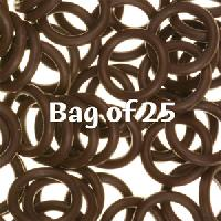 12mm Rubber O-Rings BAG of 25 - Dark Chocolate