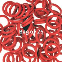 12mm Rubber O-Rings BAG of 25 - Dark Red