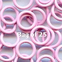 12mm Rubber O-Rings BAG of 25 - Frosting Pink