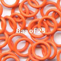12mm Rubber O-Rings BAG of 25 - Orange