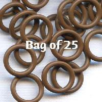 12mm Rubber O-Rings BAG of 25 - Chocolate