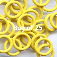 12mm Rubber O-Rings BAG of 25 - Yellow