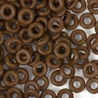 6mm Rubber O-Rings BAG of 25 - Dark Brown