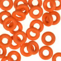 6mm Rubber O-Rings BAG of 25 - Orange