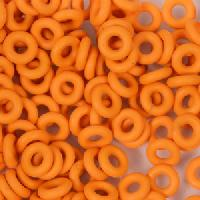 6mm Rubber O-Rings BAG of 25 - Tangerine