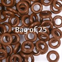 7.25mm Rubber O-Rings BAG of 25 - Dark Chocolate