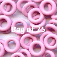 7.25mm Rubber O-Rings BAG of 25 - Frosting Pink