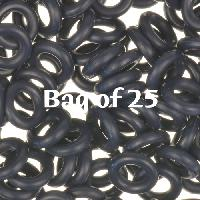 7.25mm Rubber O-Rings BAG of 25 - Midnight