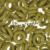 7.25mm Rubber O-Rings BAG of 25 - Olive