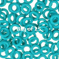 7.25mm Rubber O-Rings BAG of 25 - Teal
