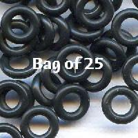7.25mm Rubber O-Rings BAG of 25 - Black