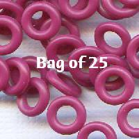 7.25mm Rubber O-Rings BAG of 25 - Cranberry