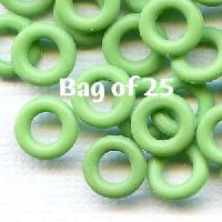 7.25mm Rubber O-Rings BAG of 25 - Grass Green