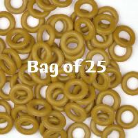 7.25mm Rubber O-Rings BAG of 25 - Sumac