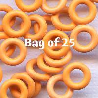 7.25mm Rubber O-Rings BAG of 25 - Tangerine