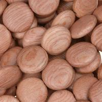 Rosewood Bead Coin 12x5mm