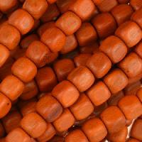Redwood Bead Cube 6mm - strand