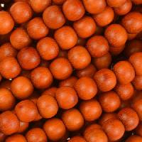 Redwood Bead Round 6mm - strand