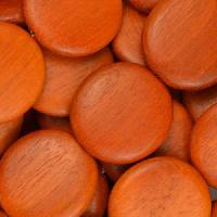 Redwood Bead Coin 20mm - strand