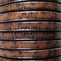 Regaliz Bark 10mm Oval Leather Cord - Brown