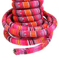 Regaliz Cotton 10mm Oval Cord - Pink / Red