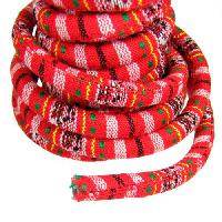 Regaliz Cotton 10mm Oval Cord - Bright Red - per inch