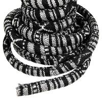 Regaliz Cotton 10mm Oval Cord - Black / White