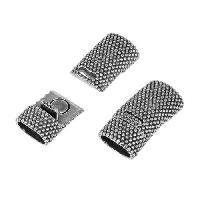 Regaliz Dots Magnetic Clasp per 10 pieces - Antique Silver