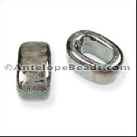 Regaliz Oval Ceramic Bead 10mm - Gun Metal Grey