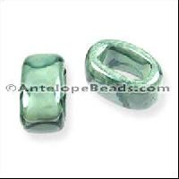 Regaliz Oval Ceramic Bead 10mm - Teal Lime DNO