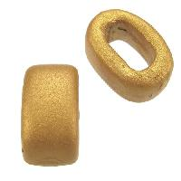 Regaliz Oval Ceramic Bead 10mm - Gold