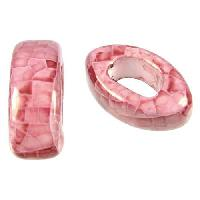 Regaliz 5mm EYE ceramic bead RED:PINK
