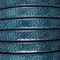 Regaliz Embossed 10mm Oval Leather Cord - Navy