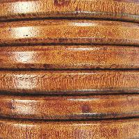 Regaliz 10mm Oval Leather Cord - Distressed Camel - per inch