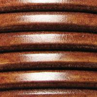 Regaliz 10mm Oval Leather Cord - Distressed Whiskey - per inch