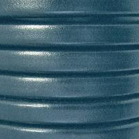 Regaliz 10mm Oval Leather Cord - Atlantic Blue - per METER