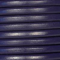 Regaliz 10mm Oval Leather Cord - Dark Purple - per METER