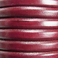 Regaliz 10mm Oval Leather Cord - Bordeaux - per METER