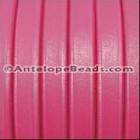 Regaliz 10mm Oval Leather Cord - Fuchsia - per METER