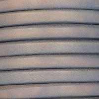 Regaliz 10mm Oval Leather Cord - Matte Faded Denim