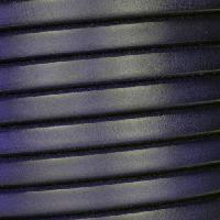 Regaliz 10mm Oval Leather Cord - Matte Navy Blue
