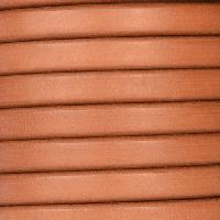 Regaliz 10mm Oval Leather Cord - Matte Camel - per inch