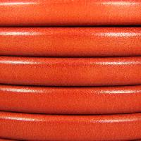 Regaliz 10mm Oval Leather Cord - Matte Orange - per inch